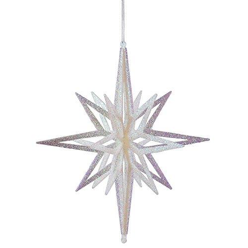 Vickerman 3D Star with Iridescent Glow Glitter, 12
