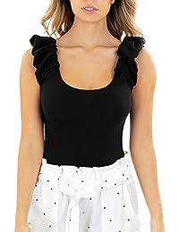 Black Elastic Sleeves Bodysuit
