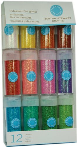 Martha Stewart Crafts Iridescent Glitter, 12-Pack (40-34005)