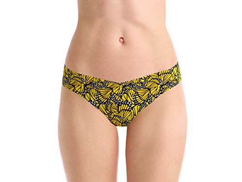(commando Printed Thong, S/M, Yellow Butterfly )