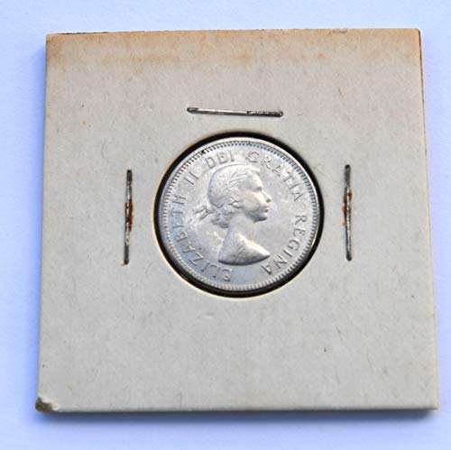 1964 CA 20th Century Canada Five Cents - Queen Elizabeth II 1st Portrait; Round - Beaver Coin Very Fine Details