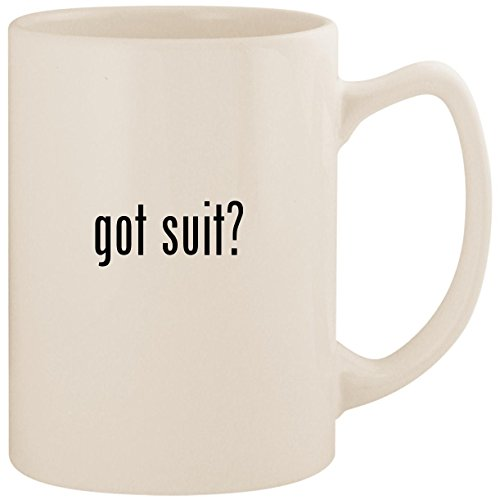 got suit? - White 14oz Ceramic Statesman Coffee Mug Cup