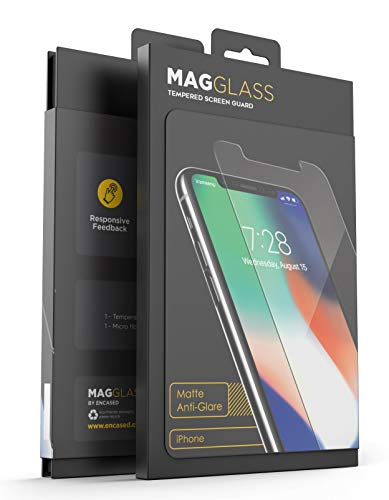 MagGlass Screen Protector for iPhone Xs MAX Tempered Glass (Matte Finish) - Anti Glare Protective Display Guard - Fingerprint Resistant w/Case Friendly Edges (Bubble Free Adhesive)