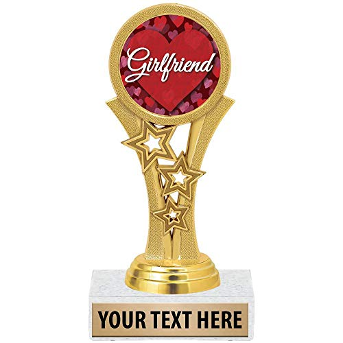Crown Awards Custom, Personalized Girlfriend Trophy Great Custom Gift Idea for Her, Engraving Included