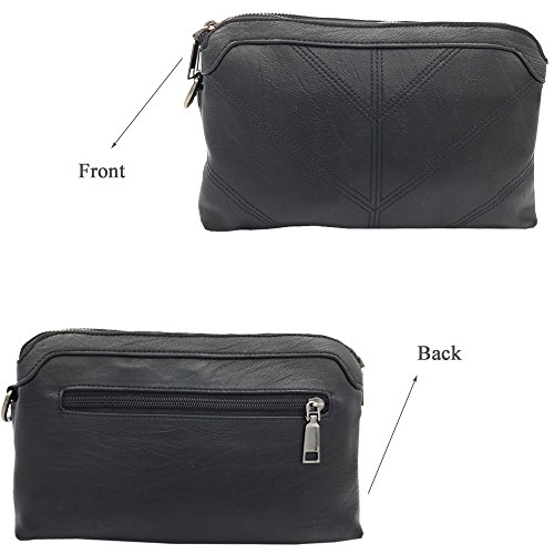 Satchel Handbags Bag Women Ladies Top ¡ Handbags Body Fashion Bag Cross Shoulder La Derkia Purse Large Black2 Bags Tote Messenger Handle Zipper wq6fOOHc