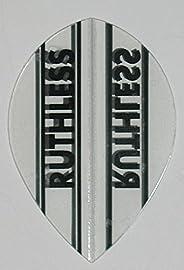 US Darts - 3 Sets (9 Flights) Ruthless Pear Shape Clear Dart Flights - 100 Micron, Ex-Tough