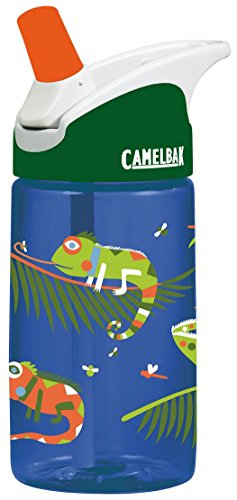 CamelBak Kids Eddy Water Bottle, 0.4 L, Iguanas