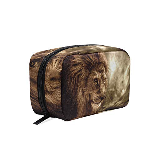 Makeup Bag Cool Fierce Lion Face Cosmetic Pouch Clutch -