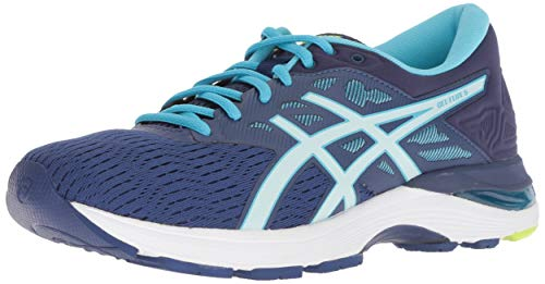 ASICS Womens Gel-Flux 5 Running Shoe, Blue Print/Soothing Sea, Size 11
