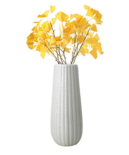 - GeLive Ceramic Flower Vase, Floral Flower Arrangement, Decorative Bud Hydroponics Container, Home Decor Table Centerpieces Vase, Ikebana Arranging for Home Decor (White)