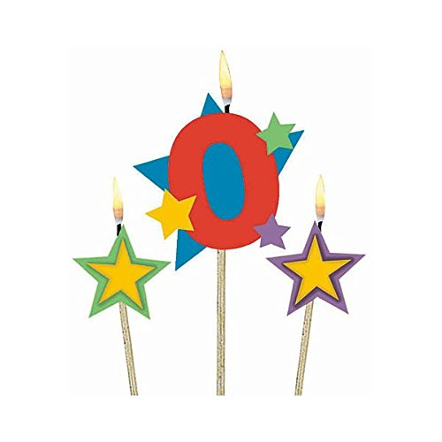 amscan #0 Decorative Birthday Candle & Star Candles | Party Supply | 36 Ct. ()