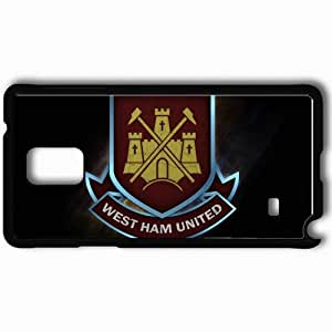 Personalized Samsung Note 4 Cell phone Case/Cover Skin 2013 awesome west ham united Black