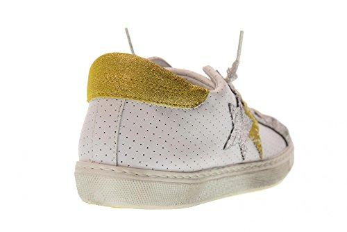 Guld 2 stjernet 2sd Sneakers Antal Sko Kvinder 1824 Lavt Hvide pqwpxzfr7