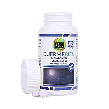 Melatonina masticable para la promoción de un sueño saludable – Comprimidos masticables de melatonina con vitamina B6 para ayudar al sistema inmune – ...