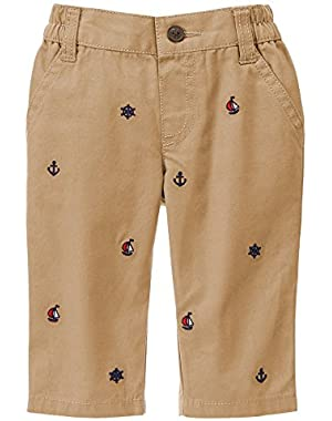 Baby Boy's Khaki Nautical Pants