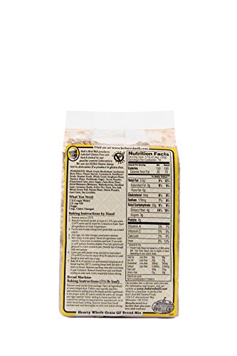 Bob's Red Mill Gluten Free Hearty Whole Grain Bread Mix, 20-ounce (Pack of 4) by Bob's Red Mill (Image #3)
