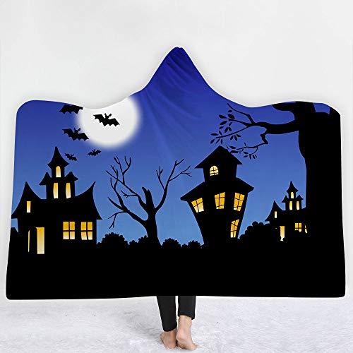 (sicque Thicken Blanket with hat Blanket Cloak Thick Blanket Hood Halloween Series,)