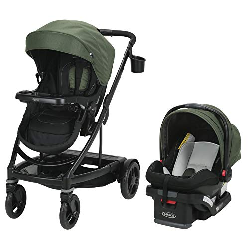 Graco Uno2Duo Travel System | Includes UNO2DUO Stroller and SnugRide SnugLock35 Infant Car Seat, Goes from Single to Double Stroller, Jules