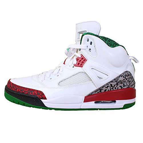 (Jordan Mens Spizike White/Varsity Red-Cement 315371-125 9)