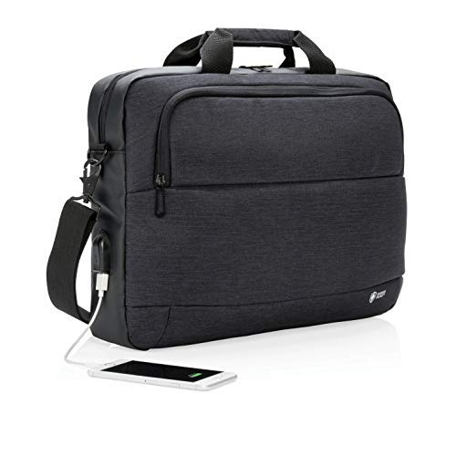 - Laptop Bag Expandable Messenger Shoulder Bag with Strap,Business Anti Theft Slim Durable Laptops Backpack with USB Charging Port,Water Resistant Briefcase for Women & Men Fits(Black)
