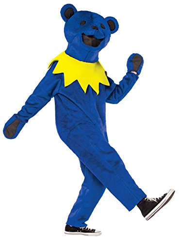 UHC Unisex Grateful Dead Dancin Bear Funny Comical Theme Adult Halloween Costume, OS (Disney Character Mascot Costumes)