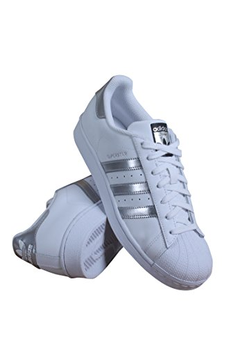 adidas Originals Superstar Footwear White/Silver Metallic/Core Black Women's Tennis Shoes