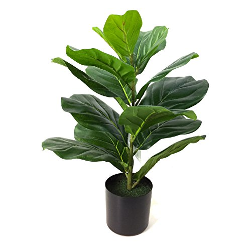 BESAMENATURE Artificial Fiddle Leaf Fig Tree, Potted Artificial Tree for Home Decor, 22'' Tall, - Tree Foliage
