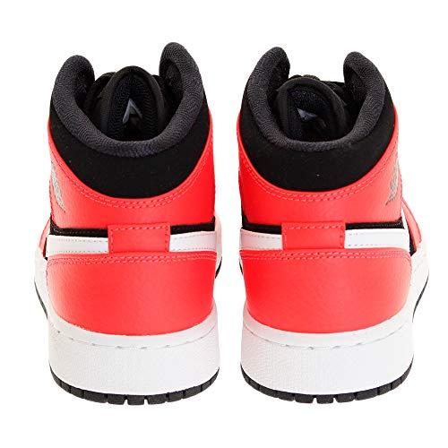 black Bambino Da Nero Infrared White 1 Scarpe Air 23 bianco Fitness Jordan gs Nike rosso 061 Mid qw7CUY8