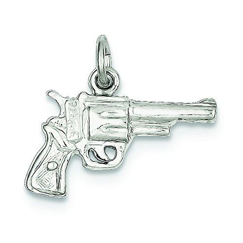 .925 Sterling Silver Revolver Charm (Sterling Silver Revolver)