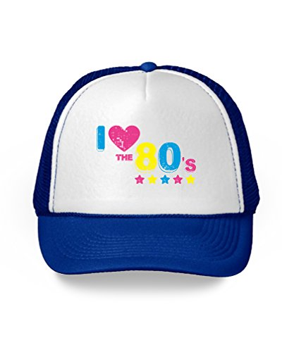 Awkward Styles 80s Accessories for 80s Party 80s Costume 80s Trucker Hat 80s Hat I Love The 80's Stars ()