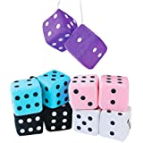 Soft Plush Hanging Dice One Dozen Pair - Bulk by Fun Express,Assorted Colors