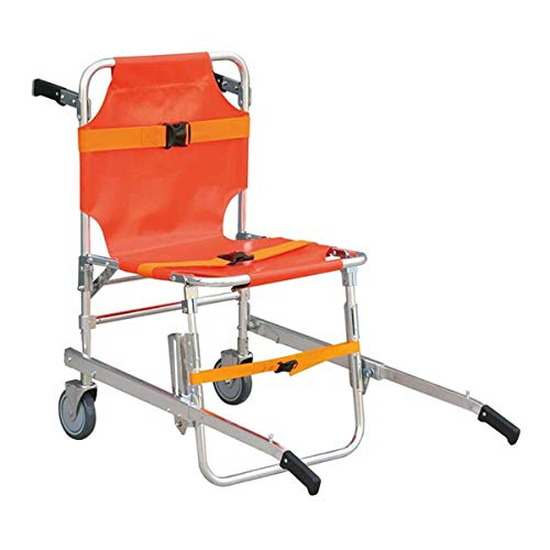 Stair Chair Medical Stretcher Ambulance Wheel Chairs Emergency Aluminum Light Weight Lift New Equipment Firefighter Evacuation Quick Transport Patient Restraint Strap