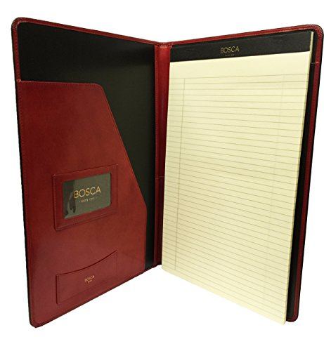 Bosca Old Leather 8 1/2 x 14 Legal Size Writing Pad Cover - Red by Bosca
