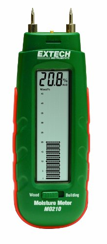 - Extech MO210 Pocket Size Moisture Meter with 2-in-1 Digital LCD Readout and Analog Bargraph