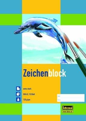 6 X Stück Zeichenblock A4 20 Blatt 120g//m² Zeichenblöcke Zeichenpapier Malblock!