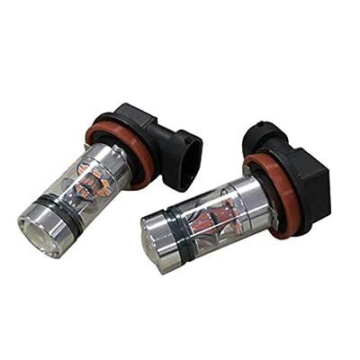 2X H8 H11 100W 20LED HID 2323 Fog Driving DRL Light Bulbs,Tuscom