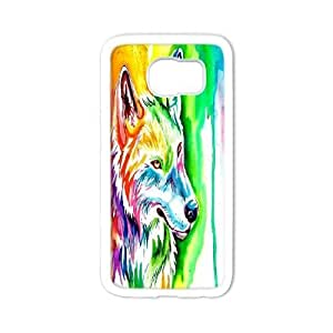 LTTcase DIY Rainbow Wolf Case for samsung galaxy s6 edge