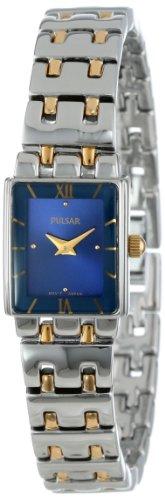 3 Two-Tone Stainless Steel Bracelet Watch (Two Tone Pulsar Fashion Watch)