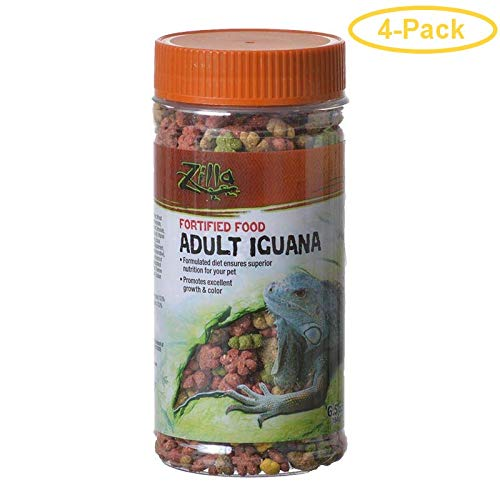 Zilla Fortified Food for Adult Iguanas 6.5 oz - Pack of 4 ()