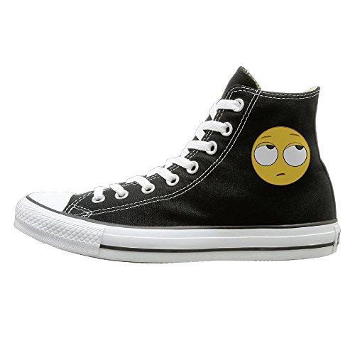 Funny Face Emoji Canvas Slip-on Sneakers 35-44