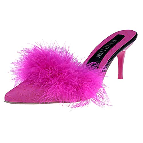 Baigoods Women Sandals Shoes Women Suede Fur High Heels Footwear Ankle Sandals Female Party Wedding Dress ... ()