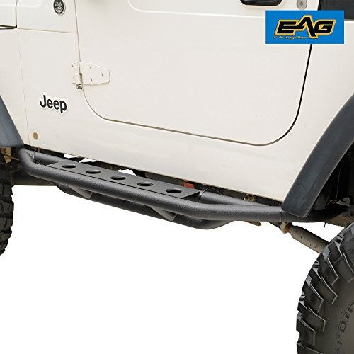 EAG 87-06 Jeep Wrangler TJ YJ Nerf Bars Side Step Armor Rock Guards Tubular