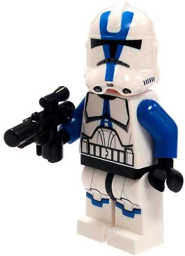 LEGO Star Wars LOOSE Mini Figure 501st Legion Clone Trooper with Blaster ()