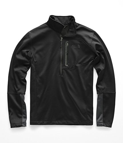 (The North Face Men's Canyonlands 1/2 Zip Pullover, TNF Black LG)