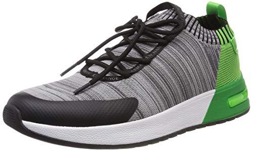 - A|X Armani Exchange Men's Dip Dye Knit Sneaker, Grey Melange/Green, 11 US