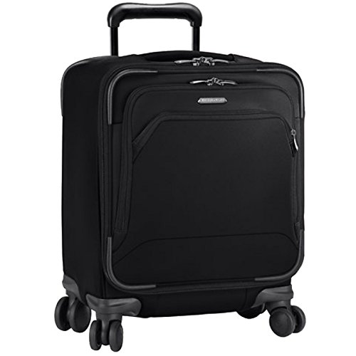 Briggs & Riley Transcend-Softside Carry-On Spinner Luggage, Crimson, 19-Inch