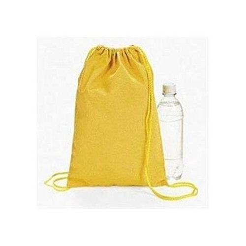 Yellow Drawstring Backpacks Dozen BULK