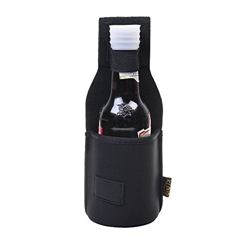 Kloud City Outdoor Drink Hip Holster Handmade Neoprene Single Bottle Can Beverage Holder Black