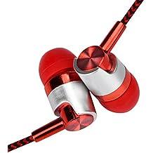 YJYdada Earphone Universal 3.5mm In-Ear Stereo Earbuds Earphone With Mic For Cell Phone (Orange)