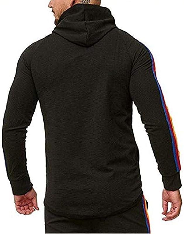 SALEBLOUSE Męskie Sportswear Langarm Patchwork Einfarbig Kordelzug Leichte Blusen mit durchgehendem Reißverschluss Hemd mit Taschen Einfache Kapuzenpullover Sweatshirt Pullover Strickjacke Cardigan: Odzież